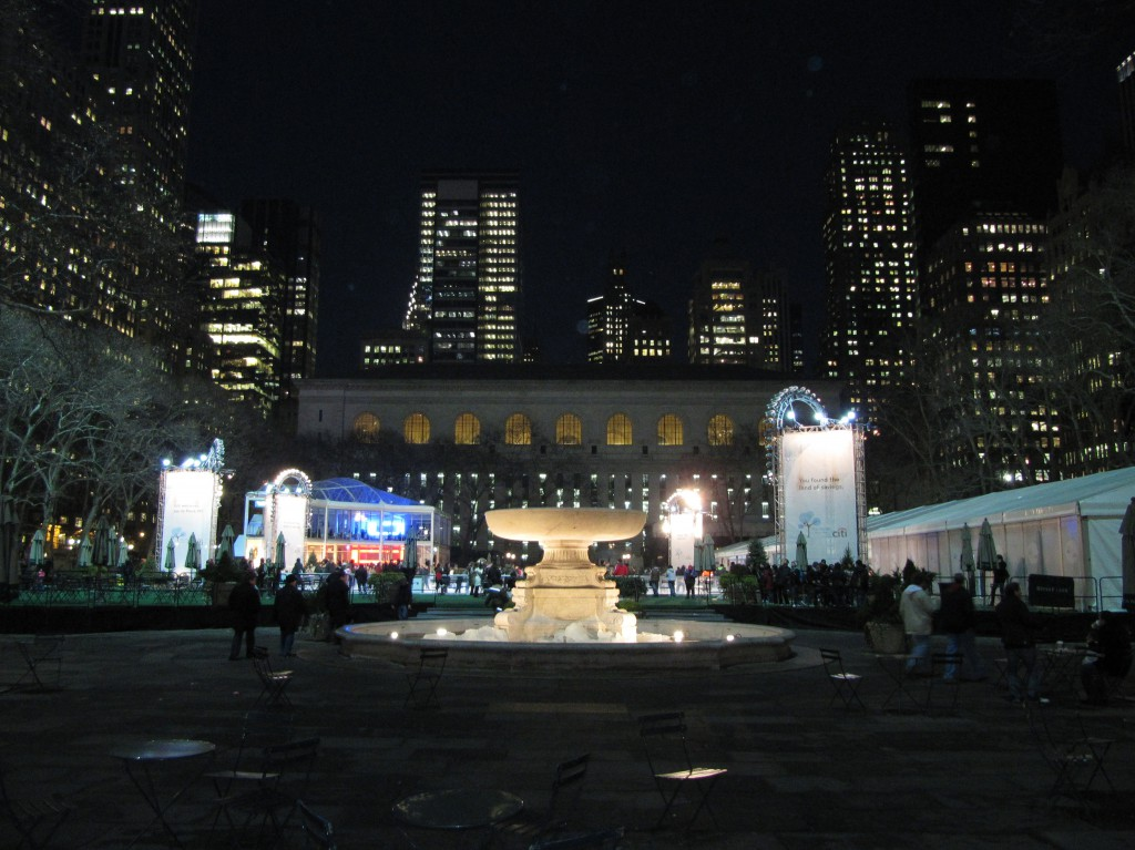Bryant Park at Night
